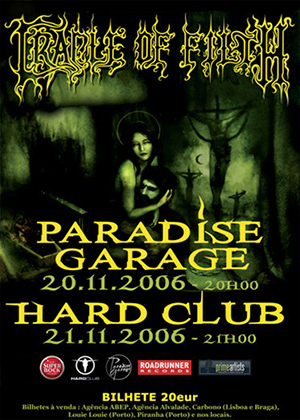 CRADLE OF FILTH - NOVEMBRO 2006