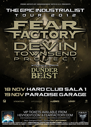 FEAR FACTORY & DEVIN TOWNSEND PROJECT - NOVEMBRO 2012